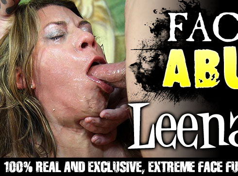Facial Abuse Starring Leena Sky